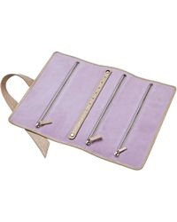 Stow - Soft Leather Gertrude Travel Jewellery Roll Metallic Gold Gloss - Lyst