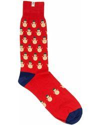 40 Colori - Red Snowman Organic Cotton Socks - Lyst