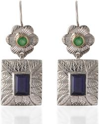 Emma Chapman Jewels - Hayami Emerald Earrings - Lyst