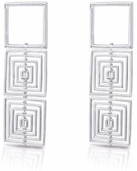 J.Y. GAO - Square To Cube Earrings - Lyst
