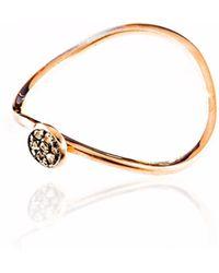Sadekar Jewellery - Brown Diamond Pave Ring - Lyst