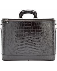Bucklesbury - Black Croco - Lyst