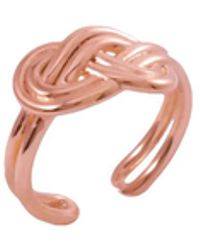 MARIE JUNE Jewelry Figure 8 Knot Rose Gold Ring