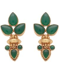 Carousel Jewels - Elegant Multi Green Onyx Gold Earrings - Lyst