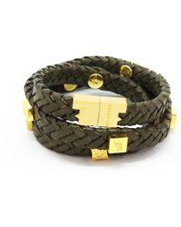 Tissuville - Brio Bracelet Olive Gold - Lyst