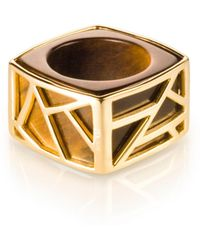 Ona Chan Jewelry | Square Cocktail Ring Tiger's Eye | Lyst