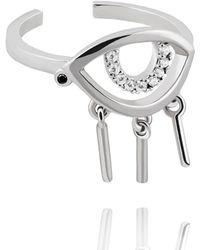 Astrid & Miyu - The Evil Eye Ring In Silver - Lyst