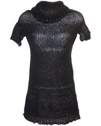 Claire Andrew - Black High Neck Knit Top With Swarovski Embellishment - Lyst