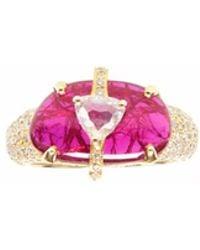 Ri Noor - Ruby Slice Diamond Ring - Lyst