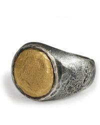 Frederick Grove - Black Gold Signet - Lyst