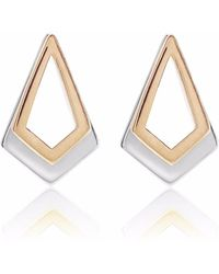 Neola - Serenity Rose Gold & Sterling Silver Earrings - Lyst