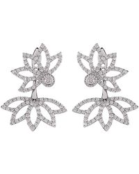 Joana Salazar - Lotus Flower Sparkling Earjackets - Lyst