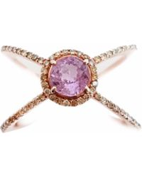 Ri Noor | Pink Sapphire & Fancy Yellow Diamond Mix Ring | Lyst