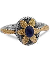 Emma Chapman Jewels - Lola Blue Sapphire Flower Ring - Lyst