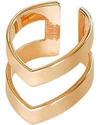 Dutch Basics - Gold Plated Double Point Ear Cuff - Lyst