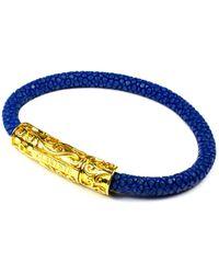 Clariste Jewelry - Women's Blue Stingray Bracelet With Gold Lock - Lyst