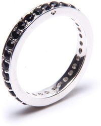 Puck Wanderlust - Silver Black Onyx Circle Eternity Ring - Lyst