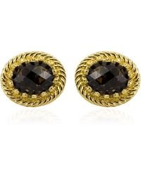 Vintouch Italy - Luccichio Smoky Quartz Stud Earrings - Lyst