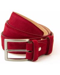 40 Colori - Red Trento Leather Belt - Lyst