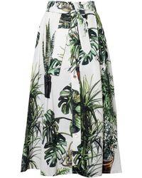 TOMCSANYI - Plants Print Midi Skirt - Lyst