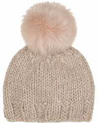 Gushlow and Cole - Blossom Hand Knit And Shearling Beanie - Lyst