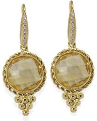 Vintouch Italy - Juno Citrine Earrings - Lyst