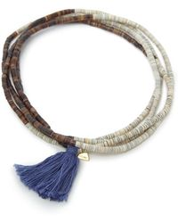 Yucama - Pulo Tassel Bracelet Blue - Lyst