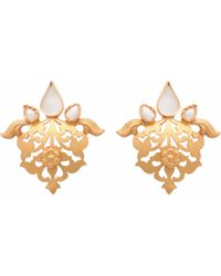 Carousel Jewels - Pearl & Crystal Heritage Earrings - Lyst