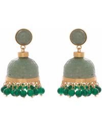 Carousel Jewels - Carved Aventurine Chandelier Earrings - Lyst