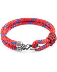 Anchor & Crew - Brown Tigers Eye Stern Silver & Stone Bracelet - Lyst
