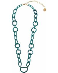 RASSIN & SHEN - Original D Eyewear Necklace N°4 Emerald Green Glasses Chain - Lyst