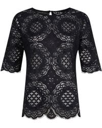 Jelena Bin Drai - Spanish Lace Top In Black - Lyst