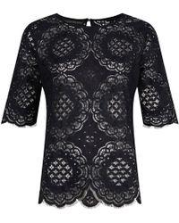 Jelena Bin Drai | Spanish Lace Top In Black | Lyst