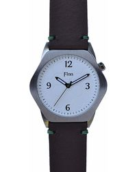 Finn Watches - The Causeway White With Chocolate Strap - Lyst