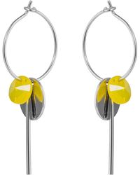 Nadia Minkoff - Hoop Cluster Earrings Silver Yellow - Lyst