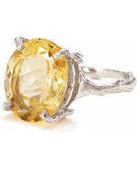 Chupi - Drop In The Wild In Citrine & Silver - Lyst
