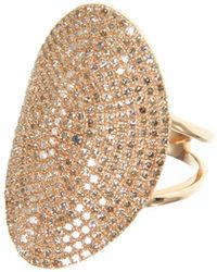 Ri Noor - Large Oval Diamond Pave Ring - Lyst