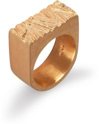 Edge Only - Rugged Ring In Gold - Lyst