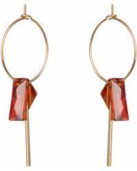 Nadia Minkoff - Hoop Cluster Baguette Earring Magma - Lyst
