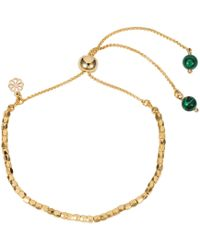 Nadia Minkoff - Friendship Bracelet Gold With Malachite - Lyst