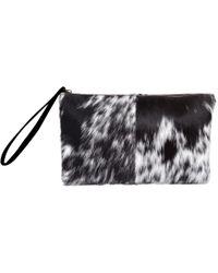 MAHI - Classic Clutch Bag In Animal Print & Pony Fur - Lyst