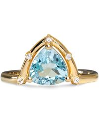 Aletheia & Phos - Orbit Ring Gold & Blue Topaz - Lyst