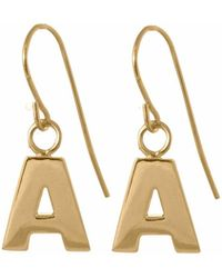 Edge Only - Letter Earrings In Gold - Lyst