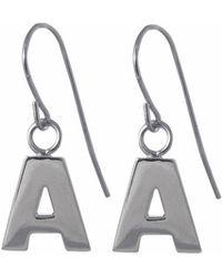 Edge Only - Letter Earrings In Silver - Lyst