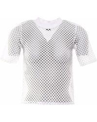 OKAYLA - White Mesh T-shirt - Lyst