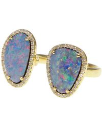 Ri Noor - Double Opal Slice Diamond Ring - Lyst