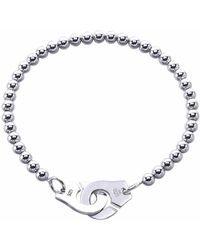 Opes Robur | Solid Silver Partners In Crime Friendship Bracelet | Lyst