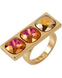 Nadia Minkoff - Three Stone Ring Tangerine - Lyst