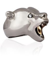 Strange Fruit - Bear Ring Black Rhodium - Lyst