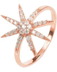 LÁTELITA London - Star Burst Ring Rosegold - Lyst